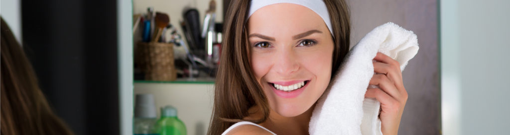 Woman Smiling with Towel